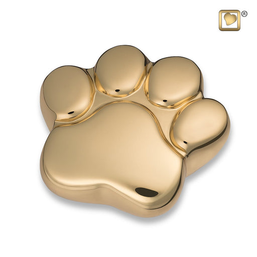 Paw Keepsake Shiny Brass