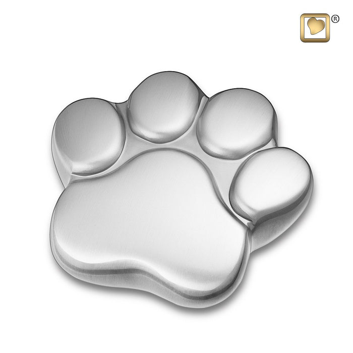 Paw Keepsake Brushed Pewter