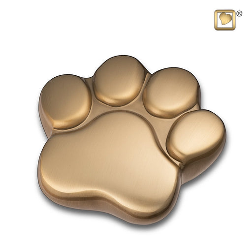Paw Keepsake Brushed Brass