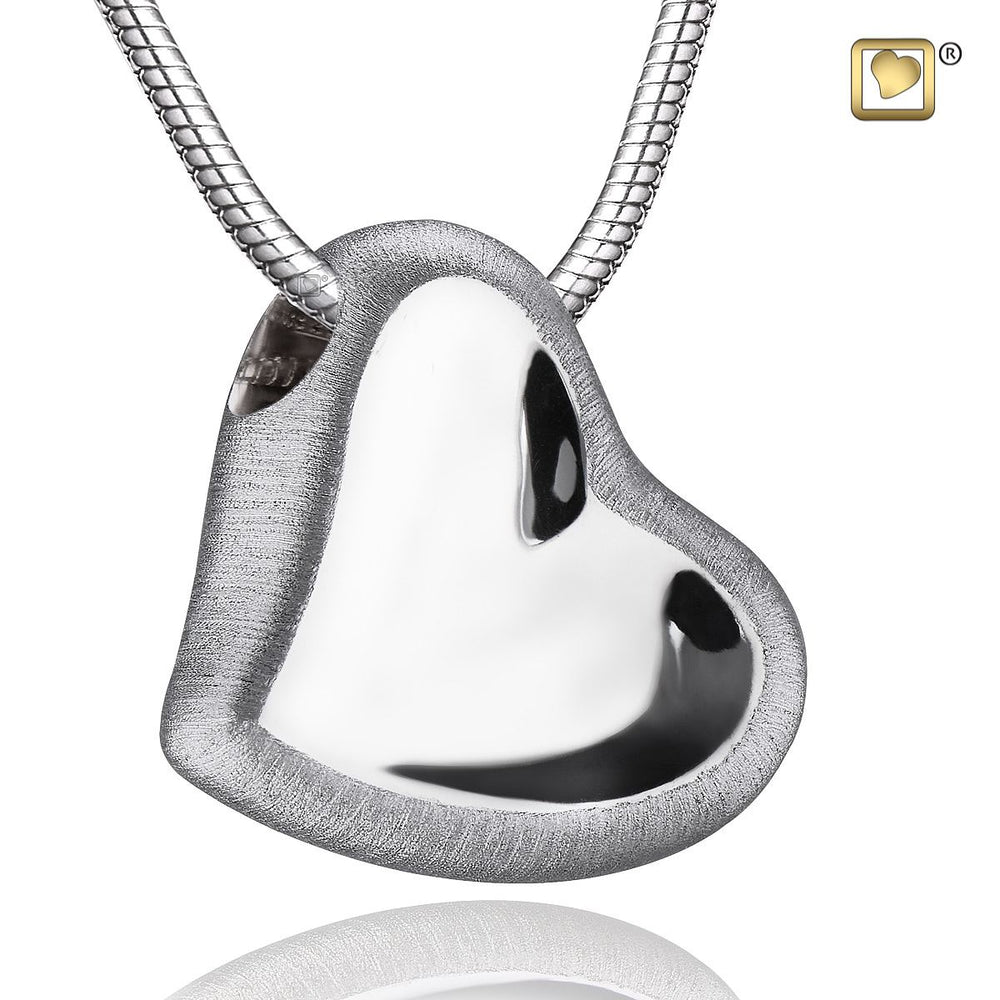 Pendant Leaning Heart™ Rhodium Plated Two Tone