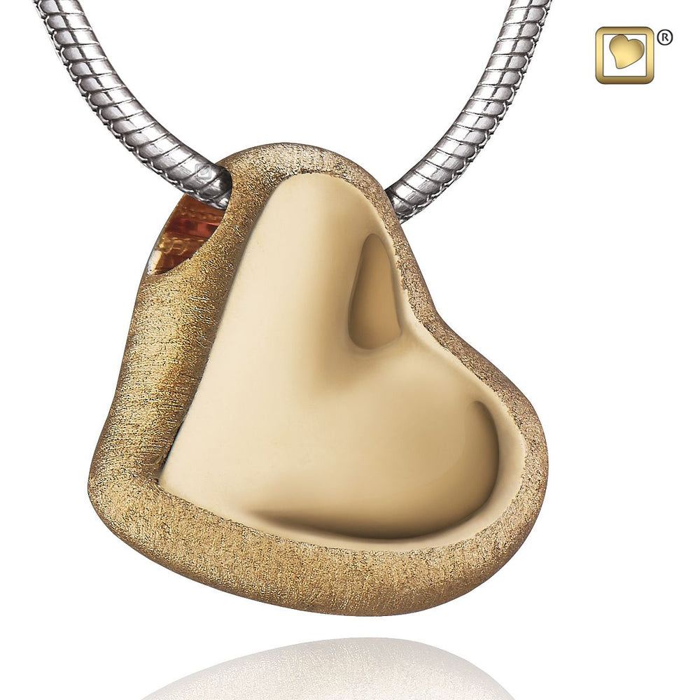 PENDANT Leaning Heart™ Gold Vermeil Two Tone