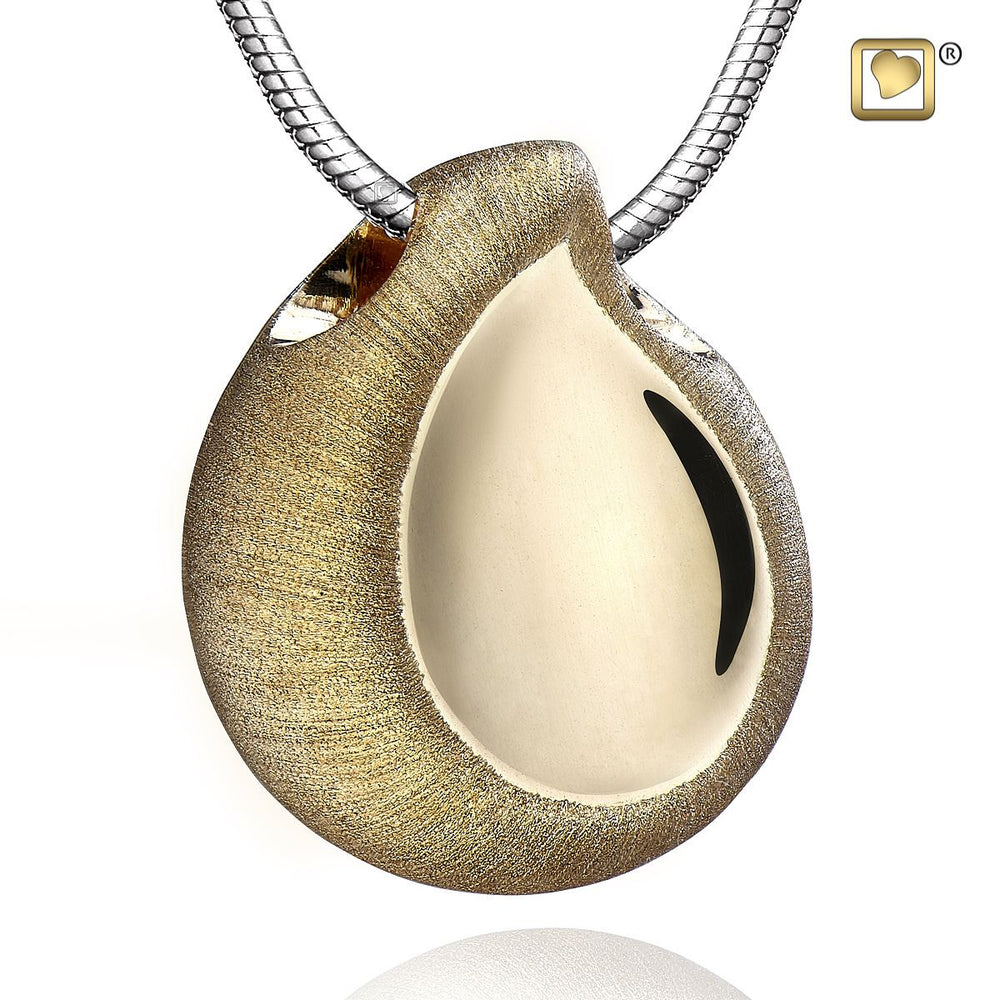 PENDANT TearDrop™ Gold Vermeil Two Tone