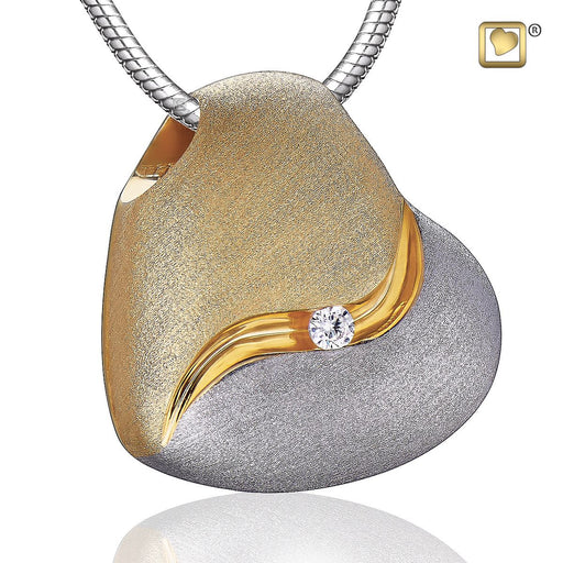 PENDANT Heartfelt™ Gold Vermeil Two Tone with Clear Crystal
