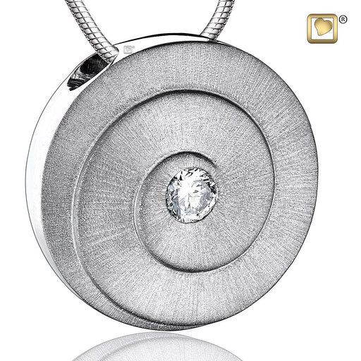 PENDANT Eternity™ Rhodium Plated Two Tone with Clear Crystal