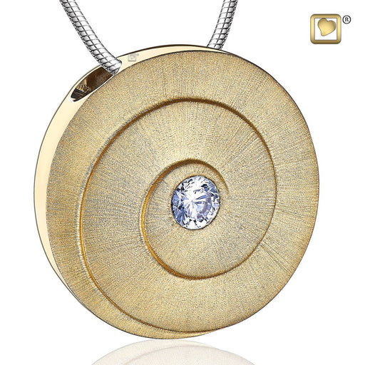 PENDANT Eternity™ Gold Vermeil Two Tone with Clear Crystal