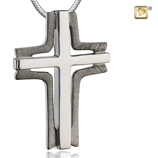 PENDANT Cross Elegant™ Ruthenium Plated Two Tone