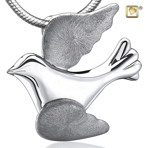 PENDANT Flying Dove™ Rhodium Plated Two Tone
