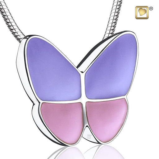 PENDANT Wings Of Hope™ Lavender Enamel Rhodium Plated