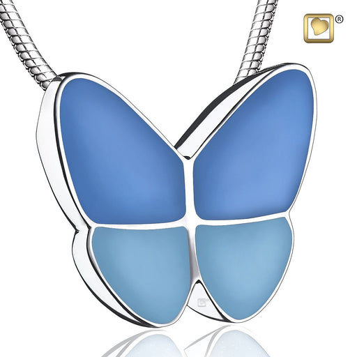 PENDANT Wings Of Hope™ Blue Enamel Rhodium Plated