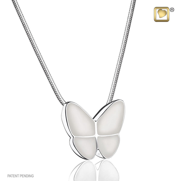 PENDANT Wings Of Hope™ Pearl Enamel Rhodium Plated