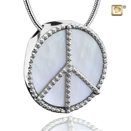 PENDANT  Peace™ Mother of Pearl Rhodium Plated