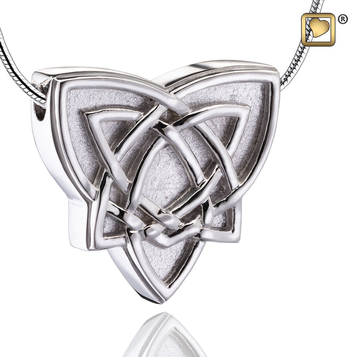 PENDANT Celtic Trinity Knot Rhodium Plated Two Tone
