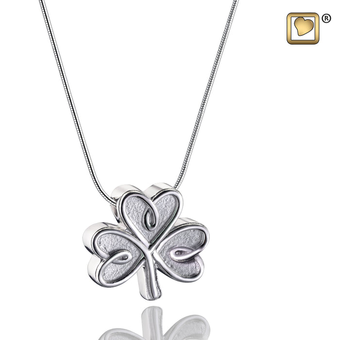 PENDANT Shamrock Rhodium Plated Two Tone