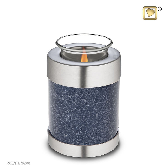 TEALIGHT SPECKLED™ INDIGO