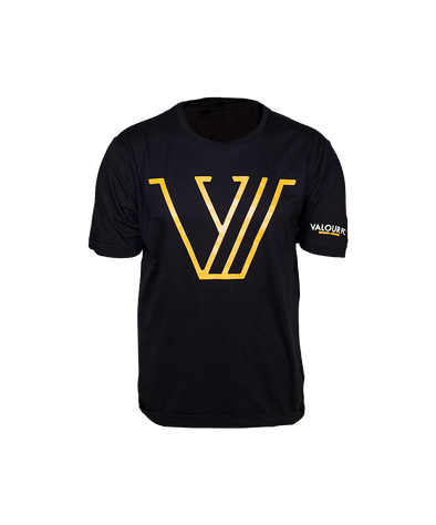 Black Valour FC Gold V Tee
