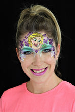 Load image into Gallery viewer, W04 Flower Wrap Face Painting Stencil