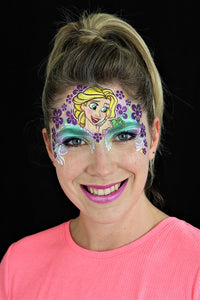 W04 Flower Wrap Face Painting Stencil
