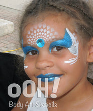 Load image into Gallery viewer, S02 Mermaid Scales Sphere Airbrush & Face Paint Stencil