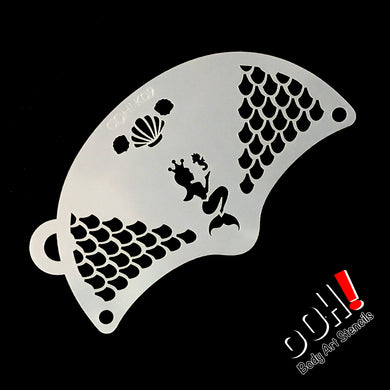 K09 Mermaid Princess Mask Face Paint Stencil