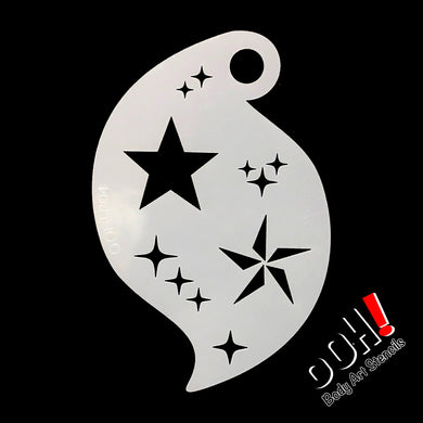 R04 3-D Star Storm Face Paint Stencil