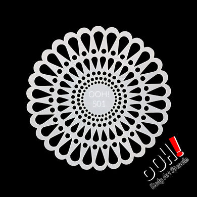 S01 Doily Sphere Airbrush & Face Paint Stencil