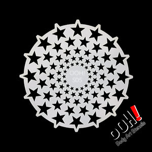 S05 Stars Sphere Airbrush & Face Paint Stencil