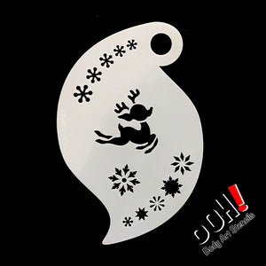 R07 Baby Reindeer Storm Face Paint Stencil