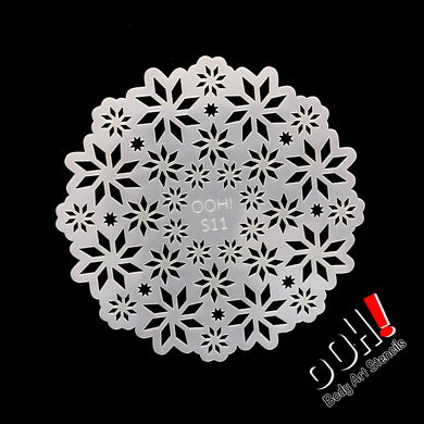 S11 Snowflake Sphere Airbrush & Face Paint Stencil