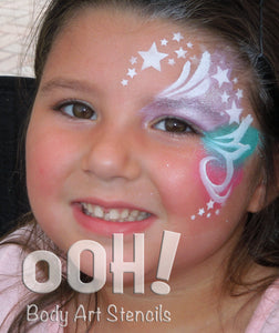W02 Star Wrap Face Painting Stencil