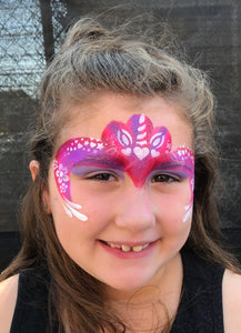 C03 Unicorn Flip Face Paint Stencil