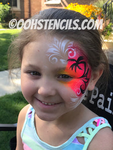 M05 Swirly Mirror Face Paint Stencil