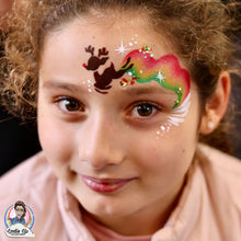 Load image into Gallery viewer, R07 Baby Reindeer Storm Face Paint Stencil