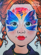 Load image into Gallery viewer, M04 Kissing Fairy Mirror Face Paint Stencil