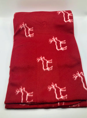 Reindeer Fleece Throw