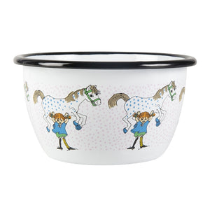 Pippi and the Horse enamel bowl