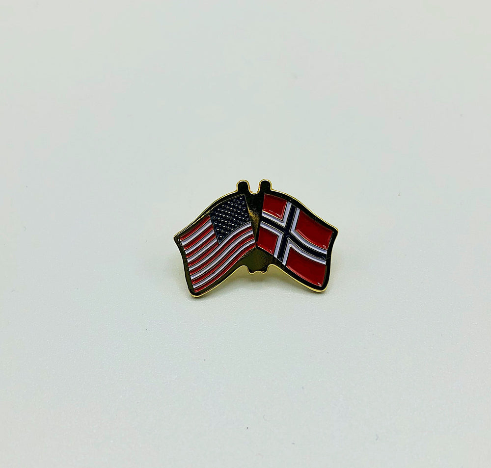 Lapel Dual Flag Pin