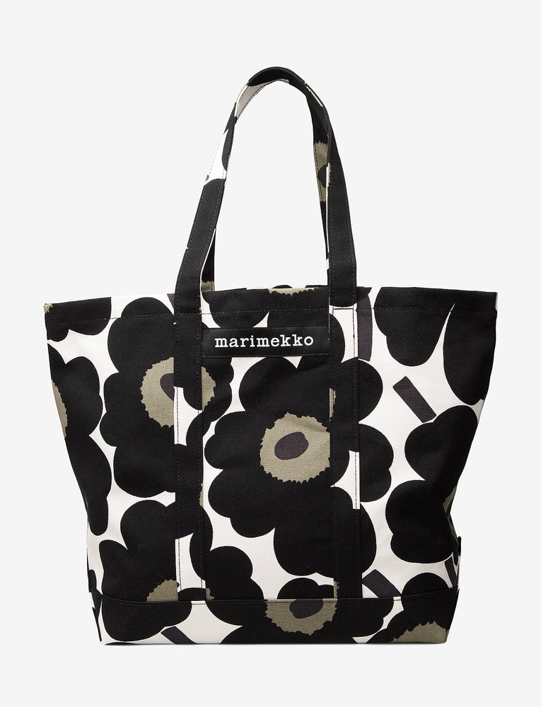 Large Canvas Unikko Bag Black