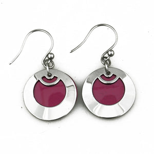 Helmi Lingonberry Earrings