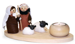 Nativity Set with Two Sheep