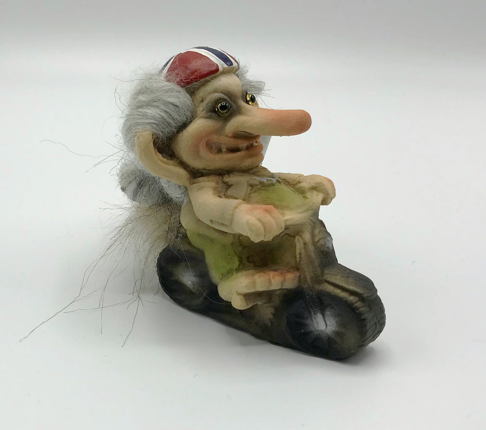 Troll on Motorcycle