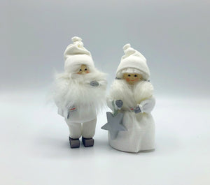 Butticki Tomte and Tomtemor in white