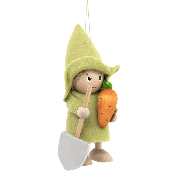 Gardener with Carrot Ornament