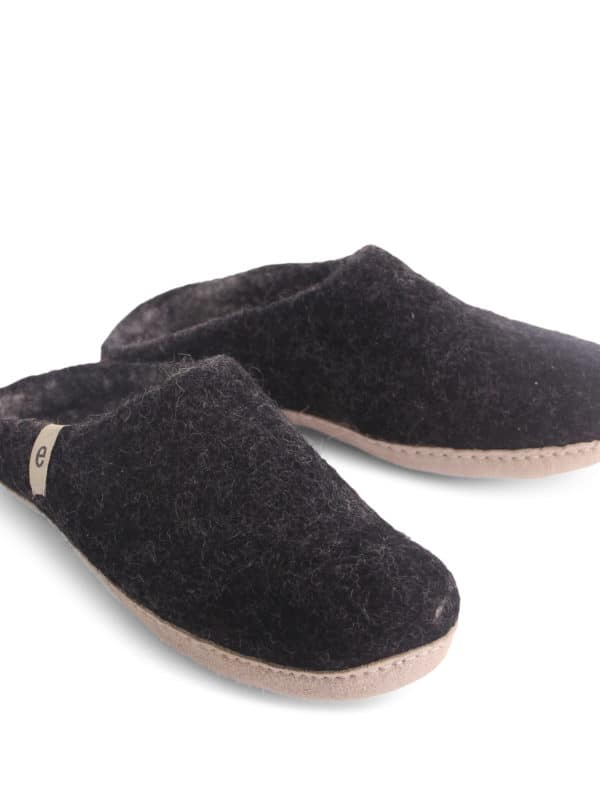 Felted Wool Slipper - Black - Egos Copenhagen