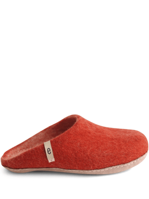 Felted Wool Slipper - Rusty Red - Egos Copenhagen