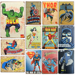 Super Heroes placa metal 30 x20cm
