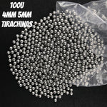100 pcs/Lot 4mm 5mm tirachinas