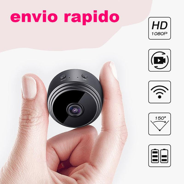 TOP Mini cámara WiFi HD 1080P Cámara interior seguridad  Visión nocturna para iPhone Android PC iPad