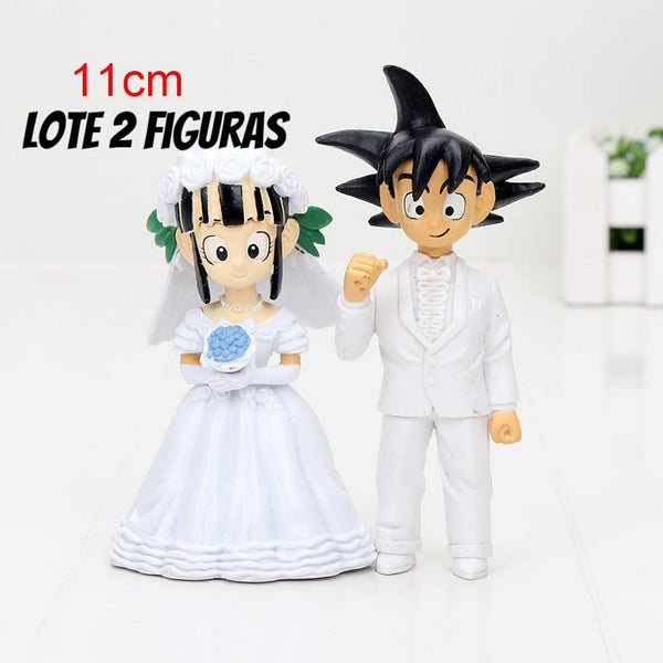 11cm Dragon Ball Z boda  Goku ChiChi figura