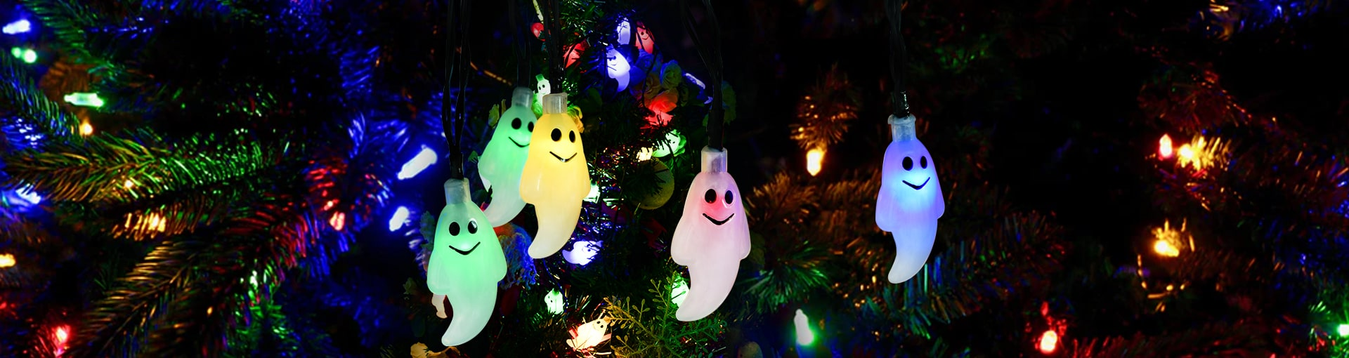 Halloween String Lights Banner