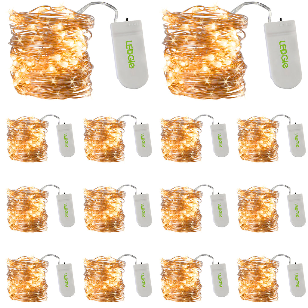 20 LEDs 7ft Battery Operated LED Fairy String Lights